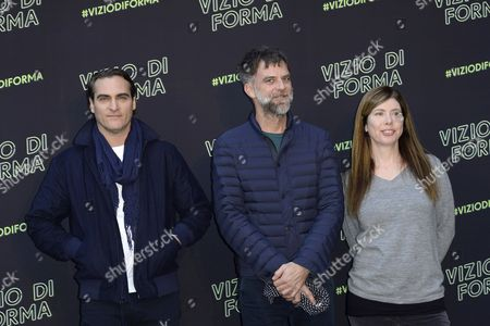 Joaquin Phoenix, Paul Thomas Anderson and JoAnne Sellar