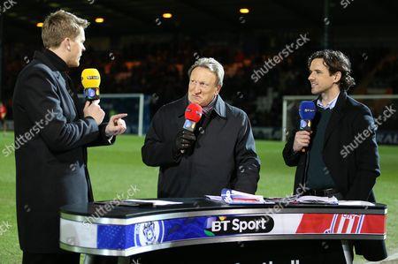 Jake Humphries, Owen Hargreaves & Neil Warnock on duty for BT Sport