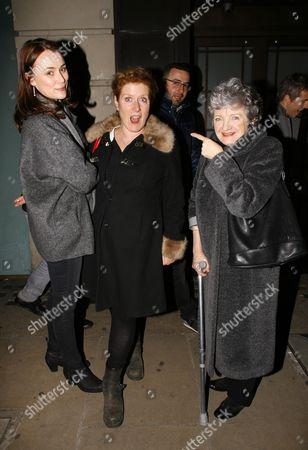 Keeley Hawes, writer Sarah Phelps and Julia McKenzie