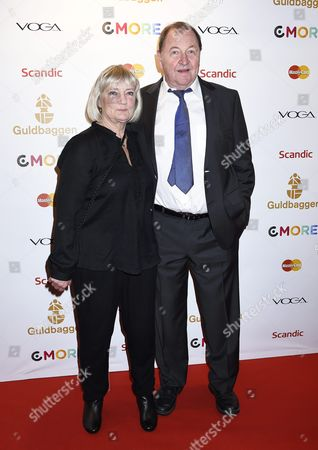 Roy Andersson with wife