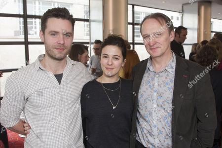 Luke Norris, Phoebe Fox and Michael Gould