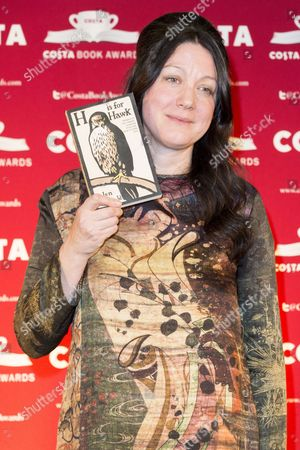 Stock Image of Helen Macdonald with her book 'H is for Hawk'
