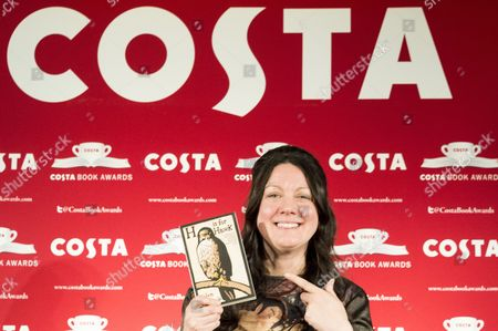 Stock Picture of Helen Macdonald with her book 'H is for Hawk'