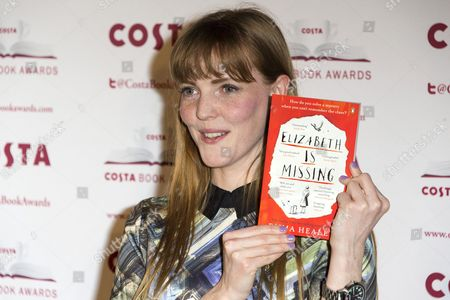 Stock Photo of Emma Healey with her book 'Elizabeth is Missing'
