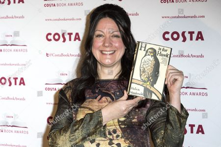 Helen Macdonald with her book 'H is for Hawk'