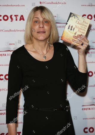 Kate Saunders with her book 'Five Children on the Western Front'