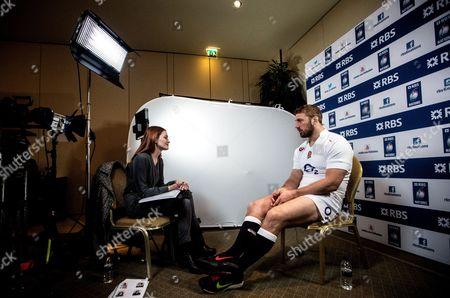 RBS 6 Nations presenter Alexandra Evans interviews Chris Robshaw of England