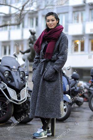 Editorial photo of Street Style, Spring Summer 2015, Paris Fashion Week, France - 27 Jan 2015