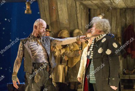 Aidan Kelly as Bill Bones, Nick Fletcher as Squire Trelawney