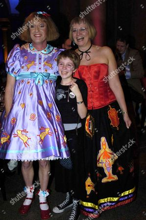 GRAYSON PERRY WINNER OF THE TURNER PRIZE WITH wife Philippa Fairclough AND DAUGHTER FLO