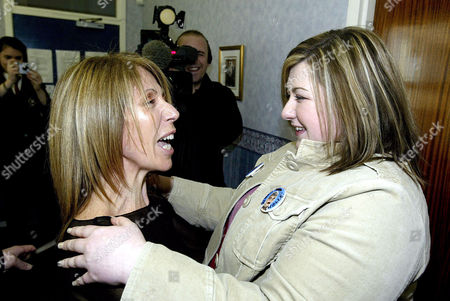 MICHELLE VISITS HER OLD SCHOOL ST AMBROSE IN COATBRIDGE AND IS REUNITED WITH HER OLD MUSIC TEACHER MRS VALERIE MOYES.