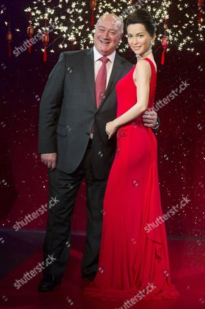 David Sharpe, Merlin Entertainment divisional director London midway attractions with a waxwork of Li Bingbing