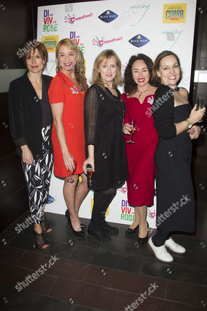 Stock Photo of Amelia Bullmore (Author), Tamzin Outhwaite (Di), Jenna Russell (Rose), Samantha Spiro (Viv) and Anna Mackmin (Director)