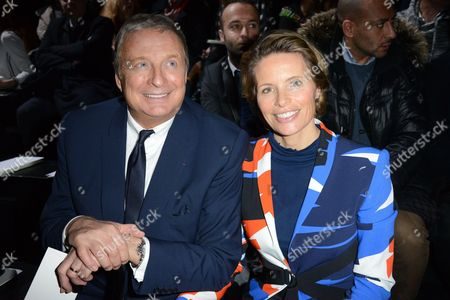 Christian Courtin-Clarins and Karine Courtin Clarins in the front row