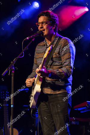 Stock Image of The British singer and songwriter Luke Sital-Singh, live in the Sch†, Lucerne, Switzerland