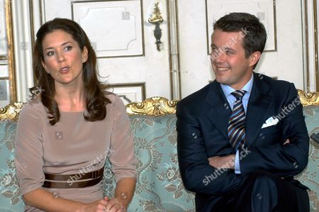 Crown Prince Frederik and Mary Elizabeth Donaldson at Fredensborg castle, Denmark