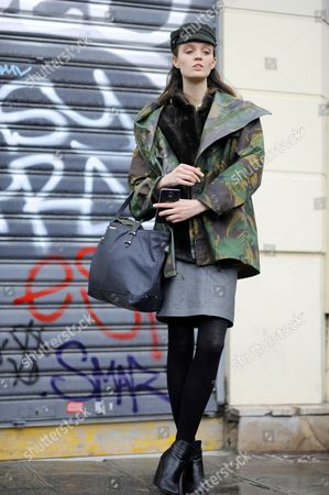 Editorial picture of Street Style, Spring Summer 2015, Paris Fashion Week, France - 28 Jan 2015