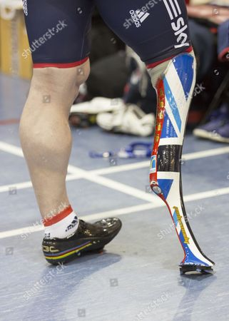 World and Paralympic Champion Jody Cundy at the Newport velodrome.