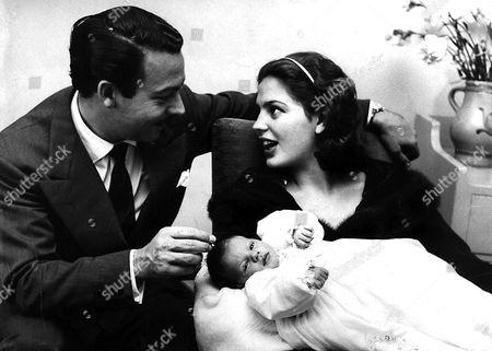 Prince Alfonso with wife Ira Von Furstenberg Hohenlohe after the birth after their first child.