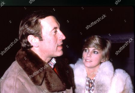 DAVID FROST AND LYNNE FREDERICK IN GSTAAD, SWITZERLAND - 1982