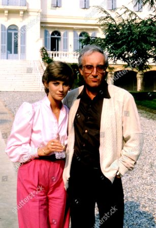 PETER SELLERS AND WIFE LYNNE FREDERICK IN ST TROPEZ, FRANCE - 1980s