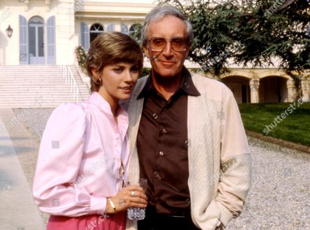Stock Image of PETER SELLERS AND WIFE LYNNE FREDERICK IN ST TROPEZ, FRANCE - 1980s