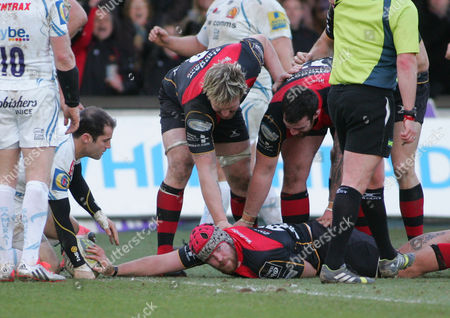Editorial image of Newport Gwent Dragons v Exeter Chiefs - LV=Cup, Britain - 1 Feb 2015