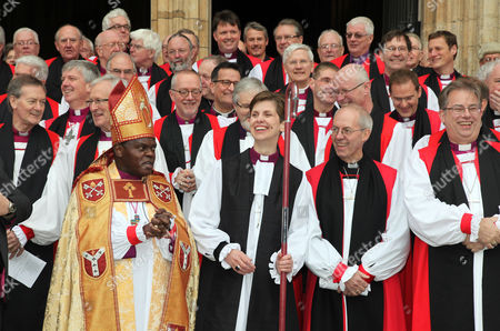 The Bishop of Stockport; Rev Libby Lane (R) and The Archbishop of York; Archbishop of York John Sentamu with Rowan Williams ; Justin Welby (R)