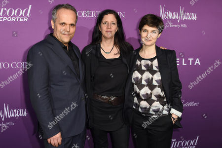Dirk Wilutzky, Laura Poitras and Mathilde Bonnefoy