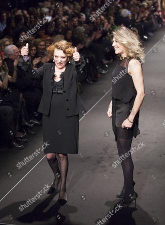 Raffaella Curiel on the catwalk