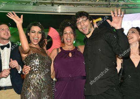 Rosario Dawson with brother Clay Dawson and mother Isabel Celeste Dawson