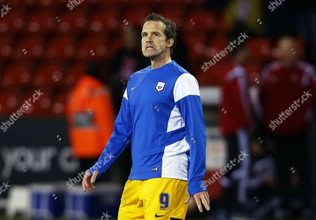 Kevin Davies of Preston North End during the pre match warm up