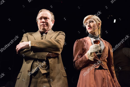 Stock Photo of 'Radiance: The Passion of Marie Curie', by Alan Alda, opens at the Tabard Theatre. Cathy Tyson stars as Marie Curie