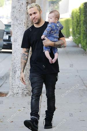 Pete Wentz with son Saint Lazslo