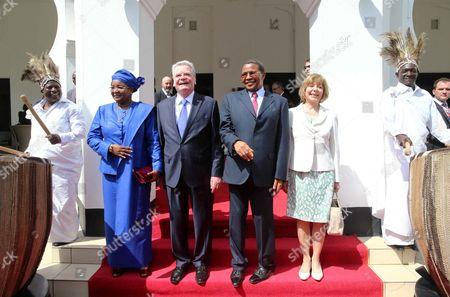 Joachim Gauck, Daniela Schad, Dr. Jakaya Mrisho Kikwete and First Lady Mama Salma Kikwete