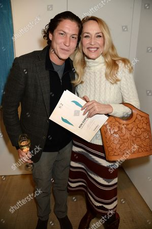 Stock Picture of Vito Schnabel and Jerry Hall