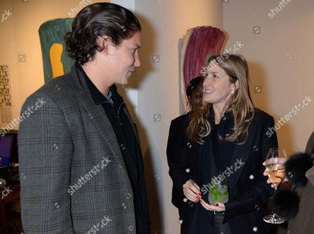 Stock Photo of Vito Schnabel and Georgina Cohen