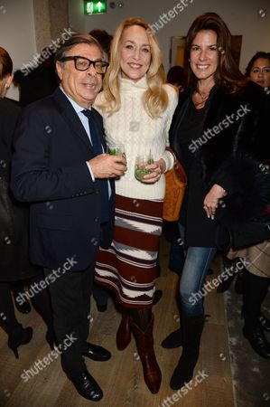 Bob Colacello, Jerry Hall and Cristina Estrada