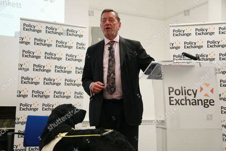 Rt. Hon David Blunkett MP and guide dog Cosby