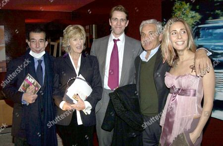 BEN ELLIOTT, HIS MOTHER ANNABEL, AND TARA BERNARD WITH FATHER AND FRIEND