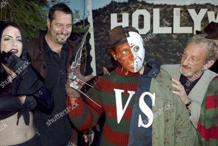 Ivana Cadaver with Ken Kirzinger, a 'Freddy' / 'Jason' imitator and Robert Englund