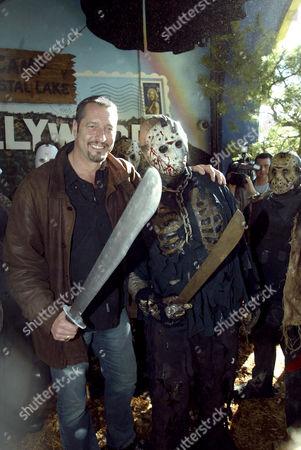 Ken Kirzinger with a 'Jason' imitator