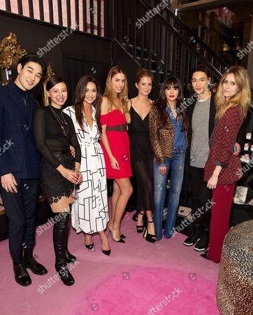 Tomo Kurata, Leah Weller, Roxie Nafousi, Amber Le Bon, Millie Mackintosh, Zara Martin, Natt Weller and Sunday Girl