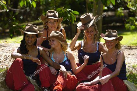 Back, Jennie Bond, Katie Price [Jordan] Diane Modahl, Kerry Katona [Katona], Alex Rodrigo Dias da Costa Best.