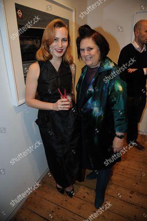 Charlotte Dellal and Suzy Menkes