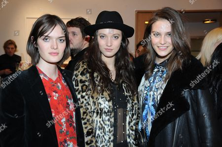 Stock Image of Sam Rollinson, Matilda Lowther and Charlotte Wiggins