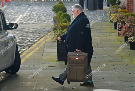 Former Co-op Bank Chairman And Methodist Minister Paul Flowers Leaves 'the Place' Apartment Hotel In Manchester City Centre.