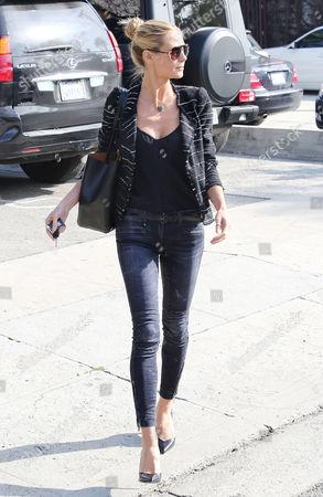 Editorial image of Heidi Klum leaves Andy LeCompte Salon, West Hollywood, Los Angeles, America - 05 Feb 2015