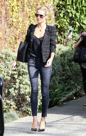 Editorial picture of Heidi Klum leaves Andy LeCompte Salon, West Hollywood, Los Angeles, America - 05 Feb 2015