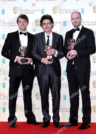 Brian J. Falconer, Michael Lennox, Ronan Blaney, winners of the Best British Short Film award for the movie 'Boogaloo And Graham'